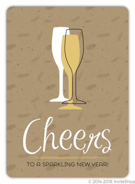 cheers new years party invitation