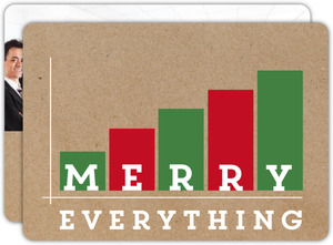 Cheerful Chart Business Holiday Card