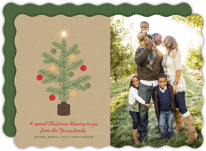 Krafty Tree Family Christmas Photo Card