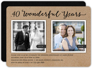 Wonderful Years Kraft Anniversary Invitation