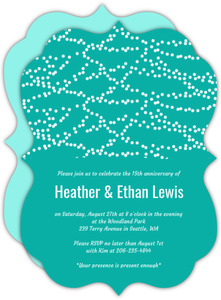 Hanging Party Lights Anniversary Invitation