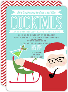 Party Animal Santa Holiday Party Invitation