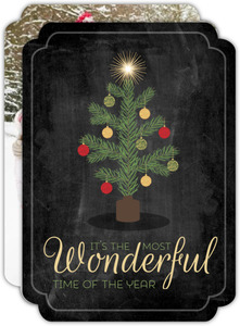 The Most Wonderful Time of the Year Family Photo Card