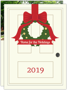 Wreath Greetings Holiday Moving Announcement