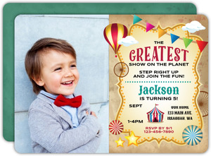 Greatest Show Kids Birthday Party Invitation