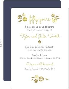 Cheap Custom 50th Anniversary Invitations Invite Shop