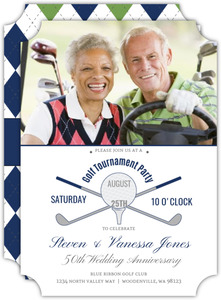 50Th Wedding Anniversary Golf Tournament Party Invitation