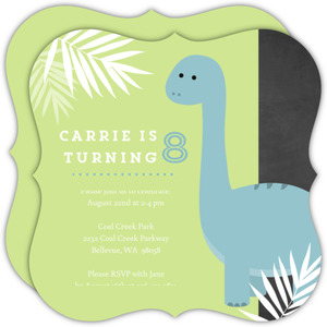 Jungle Dinosaur Birthday Party Invitation