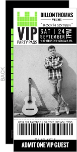 Vip Pass Sweet Sixteen Birthday Invitation