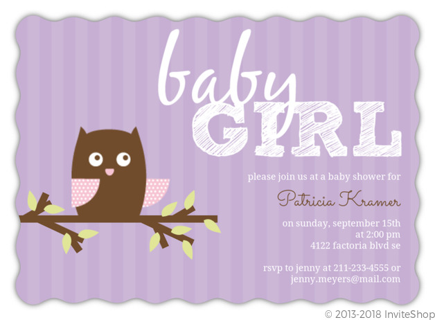Girly pink and purple stripes owl baby shower invitation baby girly pink purple stripes owl baby shower invitation filmwisefo