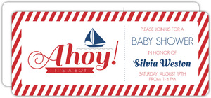 Nautical Red White and Blue Boy Baby Shower Invitation