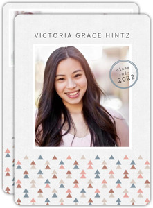 Delicate Geometric Pattern Graduation Announcement