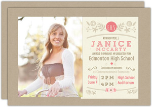 Krafty Vintage Graduation Invitation