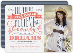 Vintage Typographic Quote Graduation Announcement