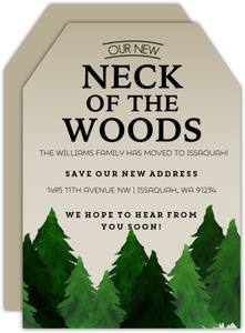 Neck Of The Woods Rustic Moving Announcement