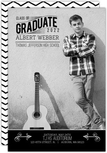 Black White Formal Graduation Announcement