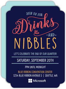 Drinks And Nibbles Business Party Invitation