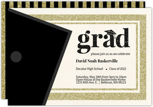 Cheap graduation announcements cheap graduation invitations classic glitter graduation invitation card filmwisefo