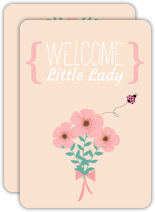 Little Lady Light Pink Baby Shower Invitation