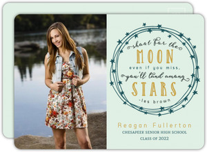 Vintage Star Wreath Graduation Invitation