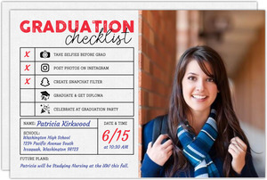 Fun Report Card Graduation Announcement