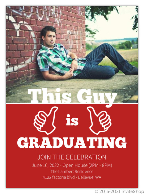 This guy funny graduation invitation graduation announcements this guy funny graduation invitation filmwisefo
