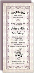 Vintage Wonderland Tea Party Invitation