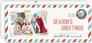 Postcard To Santa Holiday Moving Announcement