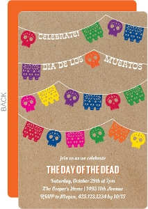 Skull Banner Day of the Dead Party Invitation