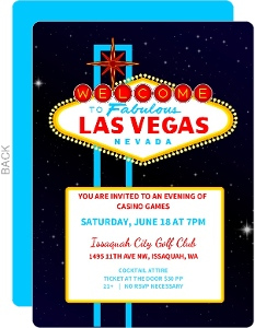 Casino Games Casino Party Invitation
