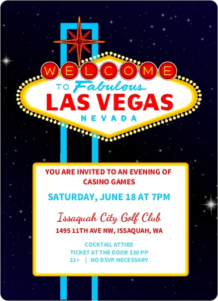 Casino Games Casino Party Invitation Poker Invitations