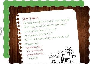Writing Santa Holiday Moving Announcement