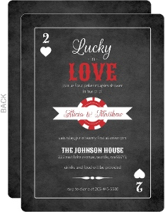 Lucky in Love Poker Couples Shower Invite