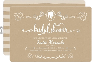 Kraft with White Decor Bridal Shower Invitation