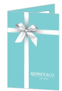 White Ribbon & Turquoise Quinceanera Invitation