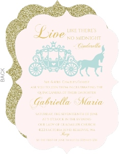 Elegant Princess Quinceanera Invitation