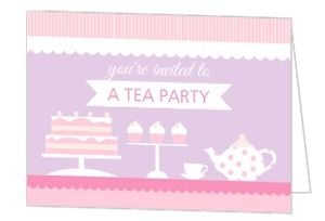 Sweet Tea Party Birthday Invitation