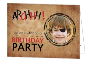 Rustic Pirate Party Photo Birthday Invitation