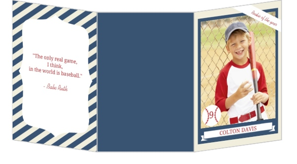 Baseball Trading Card Birthday Party Invitation Spinner Small Loading
