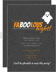 FaBOOlous Night Halloween  Party Invitation