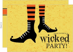 Witches Stockings Halloween Party Invitation