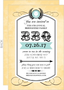 Antique Western BBQ Party Invitation