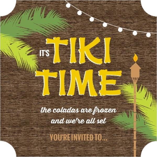 hawaiian themed party invitations