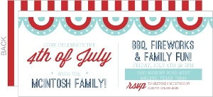Festive Banner 4th of July Invitation