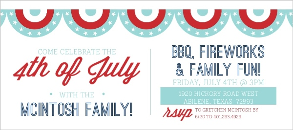 festive banner 4th of july invitation 4th of july invitations