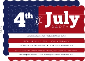 4th of July Flag Cookout Party Invitation