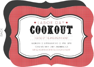 Vintage Cookout Labor Day Invitations