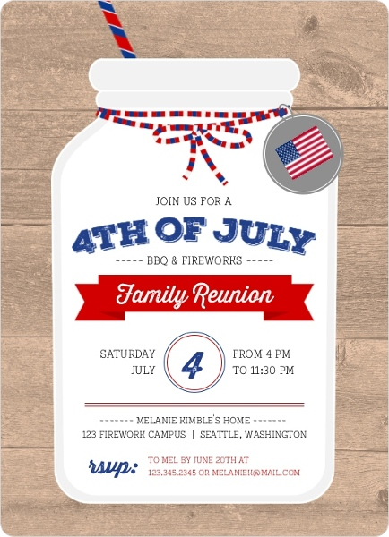 4th of july party invitations