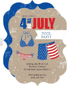 Kraft 4th Of July Pool Party Invitation