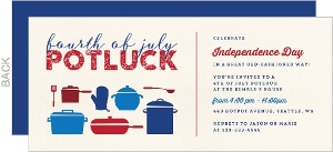 Pots Pans 4th Of July Potluck Party Invitation